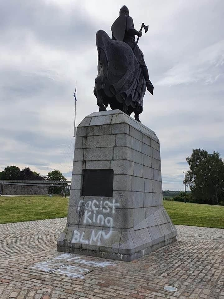 Can you believe this CRAP from the black lives matter SCUM they say ROBERT THE BRUCE was racist HOW THE FUCK CAN THAT BE there was no black people in BRITAIN IN 1306 A.D HOW DARE YOU ATTACK MY SCOTTISH HERITAGE YOU B.L.M   SCUM HOW DARE YOU ATTACK A FAMOUS HERITAGE KING...,long live SCOTLAND